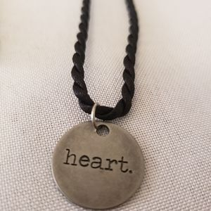 """'Heart' stainless steel charm necklace 18"""""""
